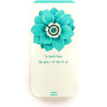 iPhone 5 Case Quote Cover Cute iPhone 5 s Cover Case iPhone Hard Cover Inspirational Phone 5 Back Cover Flower Quote