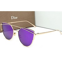 Dior women tide brand trendy sunglasses beautiful F-HWYMSH-YJ Purple