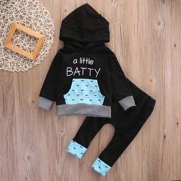 Kids Clothes Sets  Newborn Toddler Infant Baby Boys Hooded Tops +Long Pants Outfits 2 Set Clothes