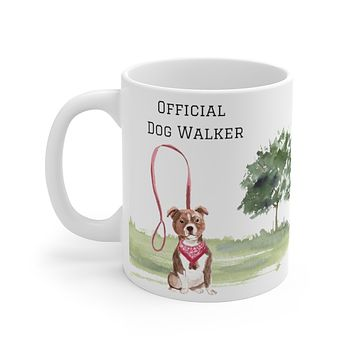 Official Dog Walker Mug — American Staffordshire Terrier