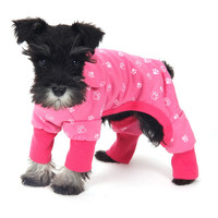 Dog Jumpsuit Pink Blue Dog Clothes Pet Clothes Dog Costume Lovely Product Puppy Wearing Cute Dog Sleepwear Girl Free Shiping