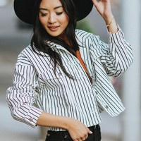 Highway Run Striped Denim Jacket