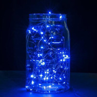 2 Set of Micro 30 LEDs Super Bright Warm White Color Wire Rope Lights Battery Operated on 9.8 Ft Long Copper Color Ultra Thin String Copper Wire F Home Bedroom Party Tree String Lights,