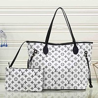 Louis Vuitton LV Trending Women Stylish Leather Satchel Bag Shoulder Bag Handbag Crossbody Set Two Piece White I-MYJSY-BB