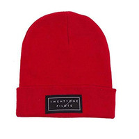 21 Twenty One Pilots Beanie band Logo clique new Official Red Hat