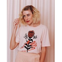 Peace Floral Slouchy Tee