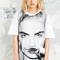 Eleven Paris Life is a Joke Cara Tee in White - Urban Outfitters