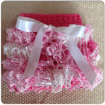 Pink Sequin Tutu Skirt, Girl Tutu, Infant Skirt- Ribbon Accent MORE COLORS, Sizes nb-12 mo (newborn shown) Spring Fashion, Newborn Clothes