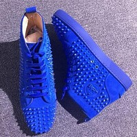 Christian Louboutin CL Louis Spikes Style #1896 Sneakers Fashion Shoes Online