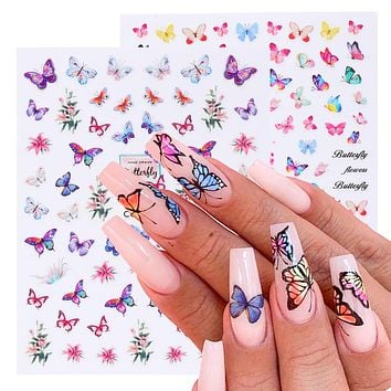 3D Butterfly Stickers For Nail Art Decorations #27