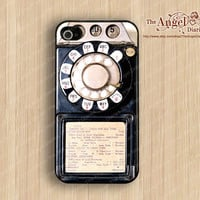 Payphone iPhone 4 Case, iPhone 4s Case, iPhone 4 Hard Plastic Case, Personalized iPhone Case