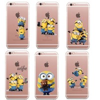 Cute Despicable Me Yellow Minion Cover Sofe Minions Case For iphone X 6 6s 5 5s SE 7 7Plus 8 8Plus Soft Silicone Coque Fundas