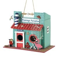 Home Decor Ideas Flamingo Paradise Birdhouse