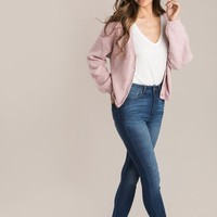Kaitlyn Blush Button Cardigan