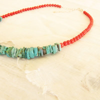 Turquoise Red Coral