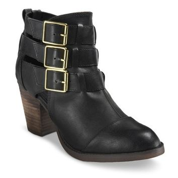Women's Mossimo® Hartley Buckle Strappy Boots - Black