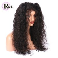 RULINDA 250D 250 Density Lace Front Human Hair Wigs With Baby Hair Brazilian Curly Remy Hair Lace Wigs For Women Thick Ends