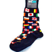 Men's Socks-Flags-Navy