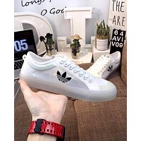 ADIDAS 2019 new men and women models translucent gauze casual shoes