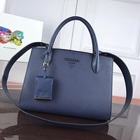 prada women leather shoulder bags satchel tote bag handbag shopping leather tote crossbody 243