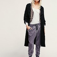 Free People Womens New Lengths Fuzzy Sweater Jacket