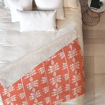 Heather Dutton Abadi Coral Fleece Throw Blanket