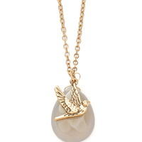 Bird Charm Longline Necklace - Womens accessories, jewellery and bags | shop online | Forever 21 - 1000164631 - Forever 21 EU English