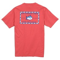 Original Skipjack Tee Shirt in Paprika Red by Southern Tide