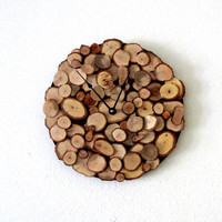 Wood Wall Clock, Reclaimed Materials, Decor and  Housewares, Rustic Home Decor,  Home and Living, Homespunsociety