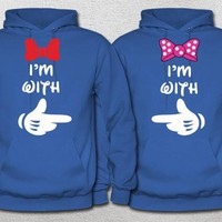 Mickey and Minnie / couples shirts / his and hers / Husband and Wife / Mr and Mrs hoodies