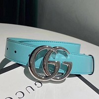 GG High Quality Fashion Smooth Buckle Belt Leather Belt