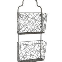 Metal Mail Wall Organizer 28-1/2-in