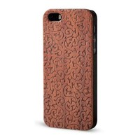 Froolu Wood Engraved Ancient Pattern iPhone 5 and 5s Case