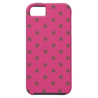 Cabaret Red Fuchsia And Brown Polka Dots Pattern iPhone 5 Covers from Zazzle.com