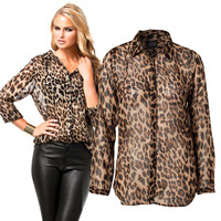 High Street Sexy Leopard Print Shirt (Sale)
