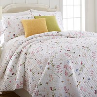 Donna Sharp Country Charm Whole Cloth Quilted Cottage Cotton Queen-King 3-Piece Set