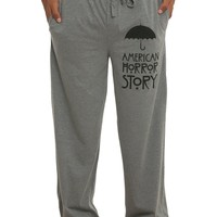 Licensed cool AMERICAN HORROR STORY Unisex Heather Grey Pajama Sleep Lounge Pants Mens XS & M