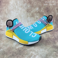 ADIDAS PHARRELL WILLIAMS HUMAN RACE NMD TR GREEN SUNGLOW  SNEAKERS
