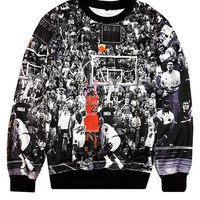 Black Basketball Digital Printed Sweatshirts
