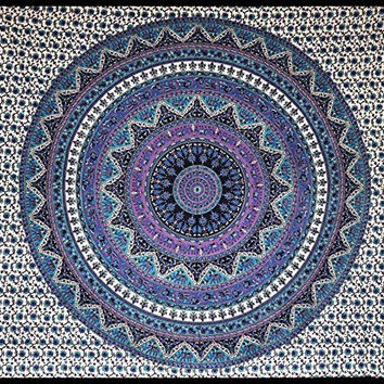 Larg Mandala cotten Tapestry Wall Hanging Bed Cover Home Decor Boho Beach Sheet