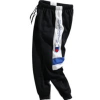 Champion Side Contrast Logo Women Men Long Pants Fashion Sports Trouser