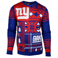 "New York Giants Official Men's NFL ""Ugly Patches"" Sweater by Klew"