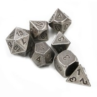 Dungeons & Dragons 7pcs/set Creative RPG Game Dice D&D Metal Dice DND Different Color Nickel With Bag or box