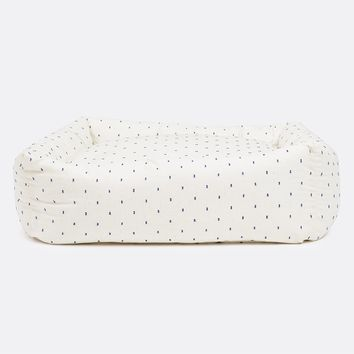 Woven Dot Square Snuggler Bed