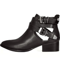 Jeffrey Campbell Black Leather Everly Bootie