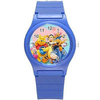 Winnie the Pooh and Friends on a Blue Plastic Watch...Great for Kids*