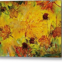 Autumn Song Metal Print By Julie Acquaviva Hayes