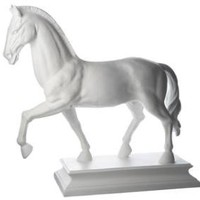 Horse Statue in white porcelain