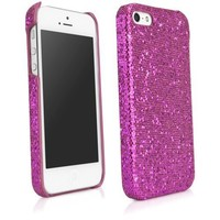 iPhone 5 Case, BoxWave® [Glamour & Glitz Case] Slim, Snap-On Glitter Cover for Apple iPhone 5, 5s - Cosmo Pink