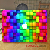 "3D Diamond Colorful Vinyl Laptop Decal Sticker for Apple MacBook Air Pro Retina 11"" 12"" 13"" 15"" Notebook Full Cover Skin Sticker"